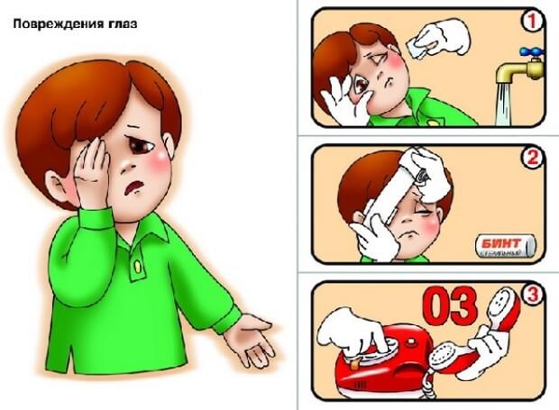 Травма глаз у детей