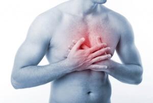 Сильная боль в области грудной клетки