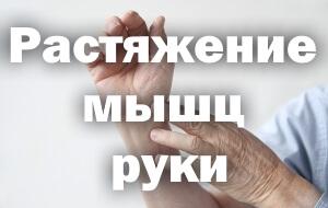 Растяжение мышц руки