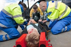 Помощь при травме с шейным отделом