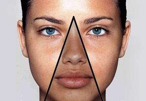 Треугольник нос, губы, подбородок