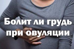 Ноет ли грудь при овуляции