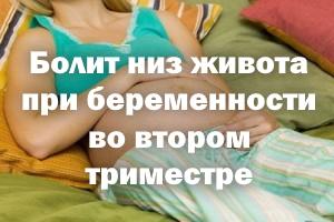 Болит низ живота при беременности во 2 триместре