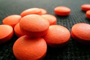 Оранжевые таблеточки от боли