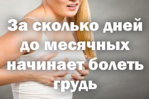 За сколько дней до менструации начинает ныть грудь