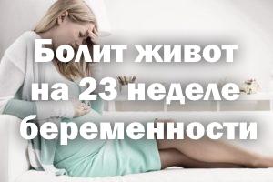 Болит животик на 23 неделе беременности