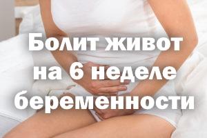 Болит животик на 6 неделе беременности