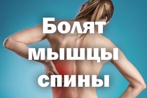 Болят мышцы спинки