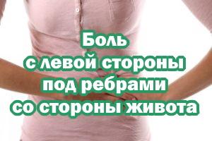 Боль слева под ребрами со стороны живота