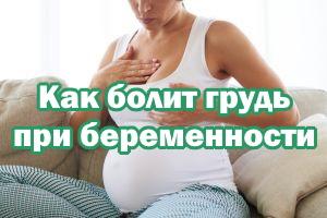 Как болят сиськи при беременности