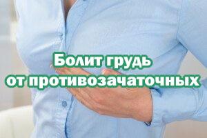 Болит грудь от КОК