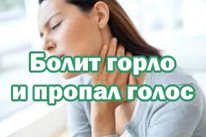 Болит горлышко и пропал голос
