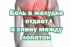Боль в желудке отдает в спину посередине лопаток